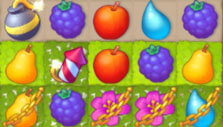 Chained pieces in Gardenscapes: New Acres