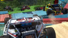 Jumping from a tall ramp in TrackMania Turbo