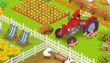 Tractor in Hay Day