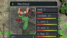 Targeting system in Melting World Online