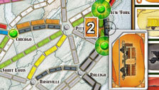 Claiming a route in Ticket to Ride