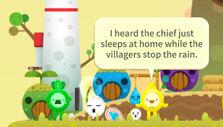 Develop your village in Raindrop Pop