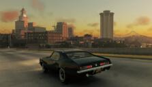 Driving on the freeway in Mafia III