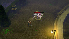 Fighting a spider in Victor Vran