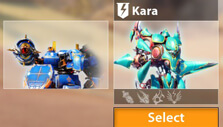 Blazing Core: Choosing a mech to play