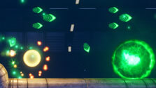 Rigid Force Alpha: Battling plasma globs