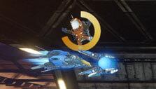 Rigid Force Alpha: Arcade mode - saving astronauts
