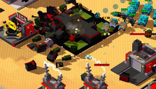 Destroying an enemy HQ in 8-Bit Armies