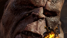 Fighting a Titan in God of War III