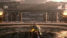 Kratos on top of Olympus in God of War III Remastered