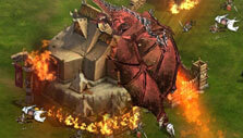 King of Avalon: Dragon Warfare: Attacking Mordred's castle