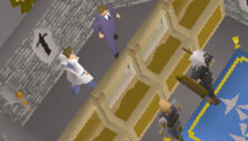 At the bank in Old School Runescape