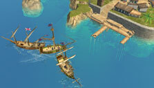 At the port in Admirals: Caribbean Empires