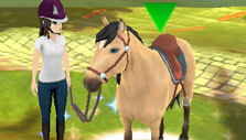 Leading your horse in Horse Riding Tales