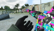 Multicolored weapon skin in Combat Arms: Reloaded