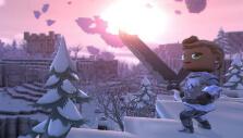 Snowy island in Portal Knights