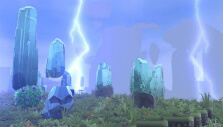 Lightning bolts in an island in Portal Knights
