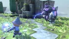 Mage vs Lightning monster in Portal Knights