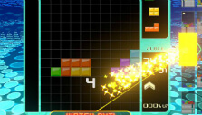 Clearing multiple lines in Tetris 99