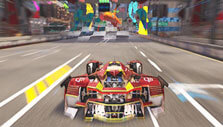 Reaching the finish line in Xenon Racer