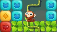 Help the monkey in Pet Rescue Puzzle Saga