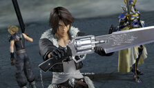 Squall and his team in Dissidia Final Fantasy NT
