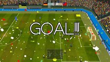Scoring a goal in Super Arcade Football