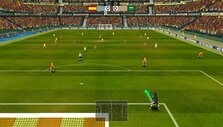 Goal kick in Super Arcade Football