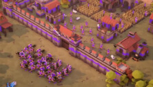 Knights charging a fortress in Empires Apart