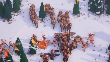 Charging in a snowy tundra in Empires Apart
