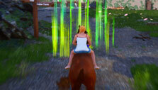 Checkpoint-based racing in Horse Riding Deluxe