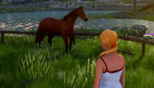 Explore a beautiful world with your horse in Horse Riding Deluxe