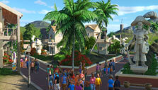 Gorgeous entrance in Planet Coaster