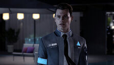 Connor in mid-negotiation in Detroit: Become Human