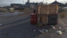 Shooting an explosive barrel in Sniper Elite 4
