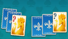 Match 2 cards of the same value in Faerie Solitaire Harvest Free