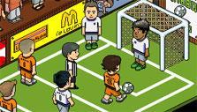 Football Game in Habbo Hotel