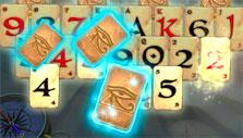 Pyramid Solitaire Saga: Glowing cards