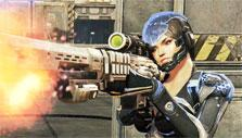 Female shooter in Zombies Monsters Robots
