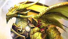 Golden dragon in Kingdom Rift