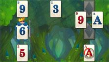 Clock-marked card in Solitaire in Wonderland