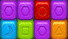 Purple cubes in Toy Blast