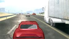 Overtaking a lorry in Highway Racer