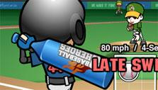Late swing in Baseball Heroes