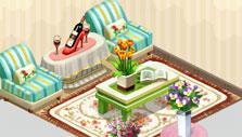 Flower Ville: Customers' lounge