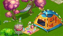 Flower Ville: Camping decoration