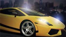 Cool yellow car in Born 2 Race