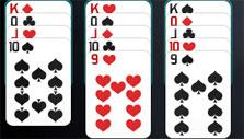 Solitaire Knockout: Cards all lined up