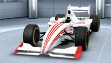 Red and white car in United GP