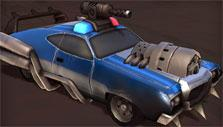 Customized police car in Heavy Metal Machines